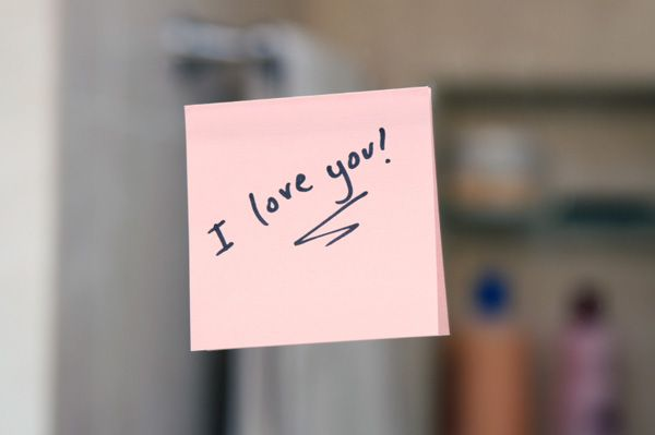 Write love Post-Its for the house