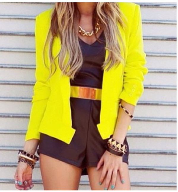 Yellow Short Blazer - Best Blazer 2017
