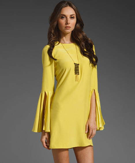 Yellow with angel sleeves