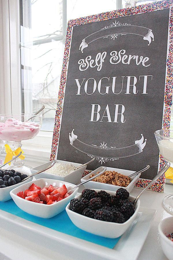 Yogurt (or ice cream) bar