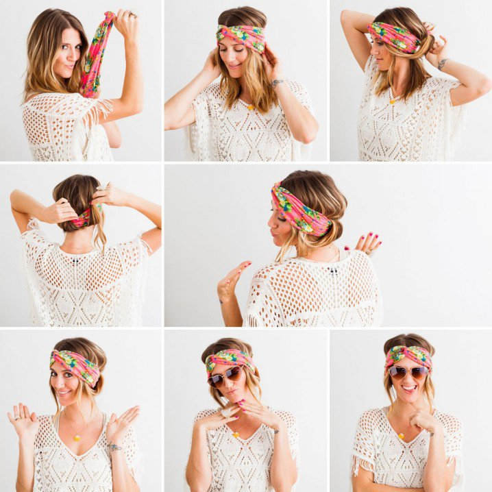 Fabulous Holiday Hairstyle Tutorials With The Pretty Scarf