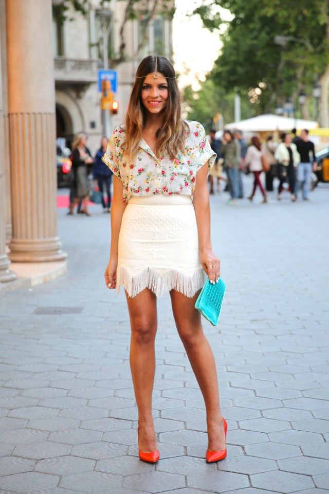 Beautiful White Skirt Outfit