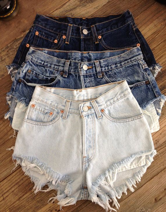 A few cut-off jean shorts