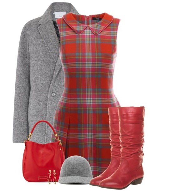 A-line plaid dress