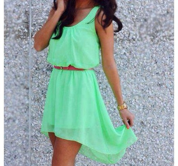 A neon sundress