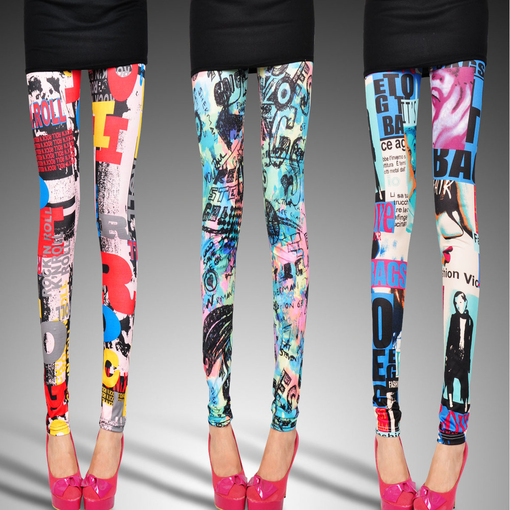 Artistic print leggings