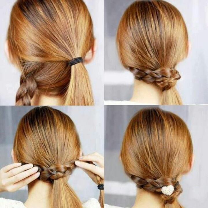 Braided hair knot
