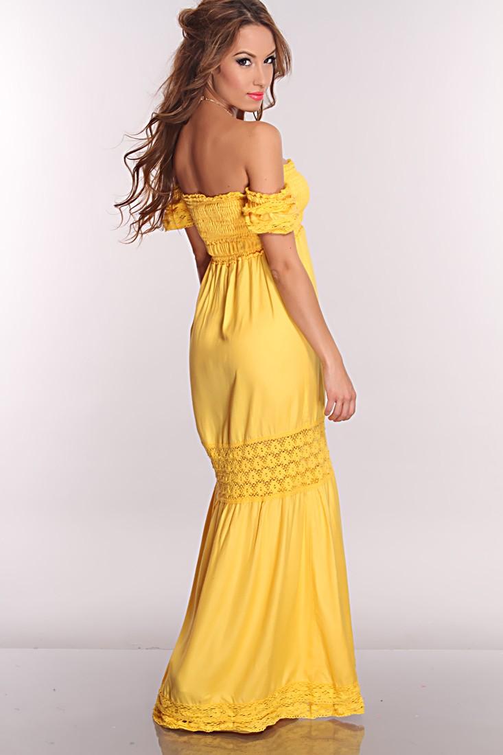 Bright-colored maxi dress
