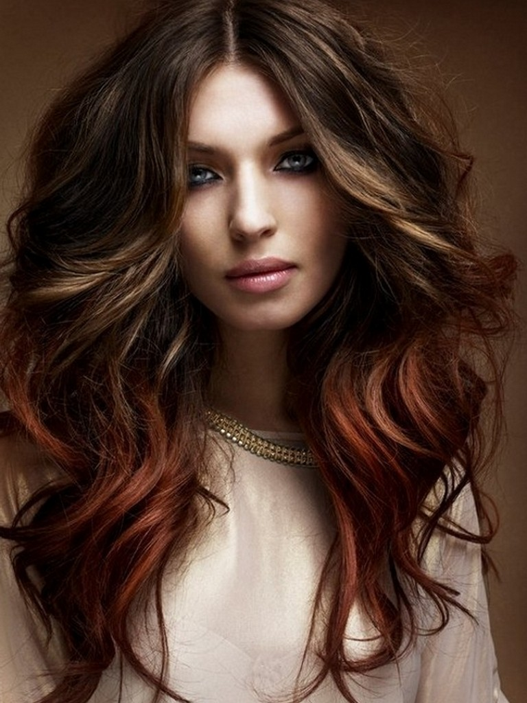 Brownish red ombre