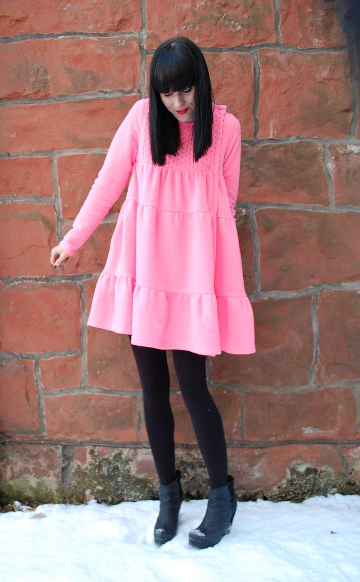 Bubblegum pink babydoll dress