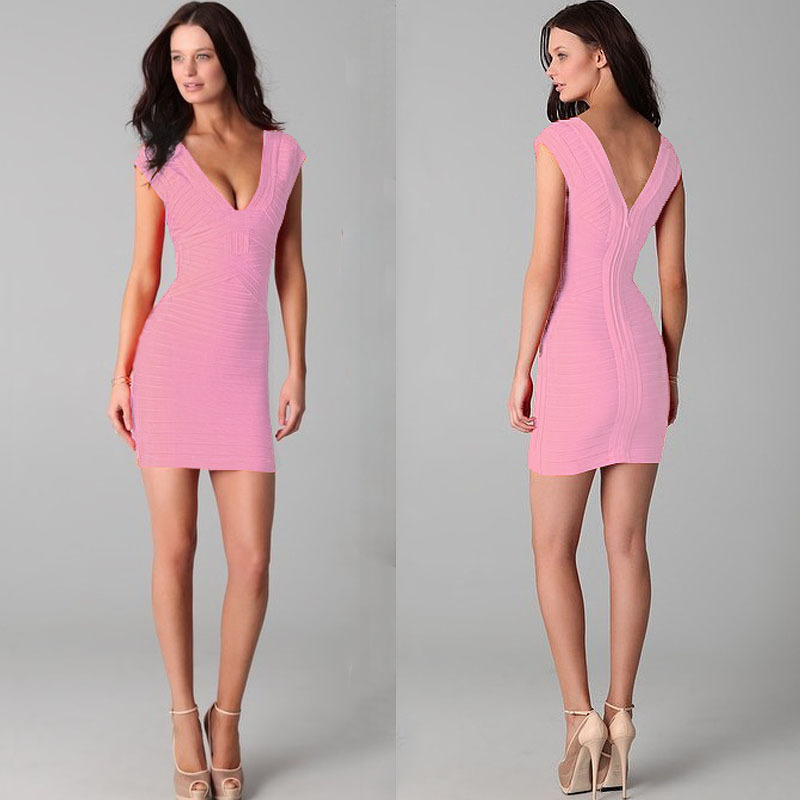 Bubblegum pink bandage dress