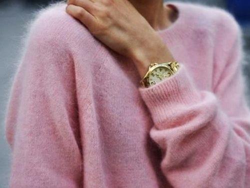 Bubblegum pink cashmere
