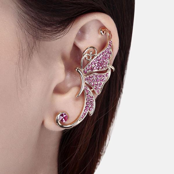 Bubblegum pink ear cuff