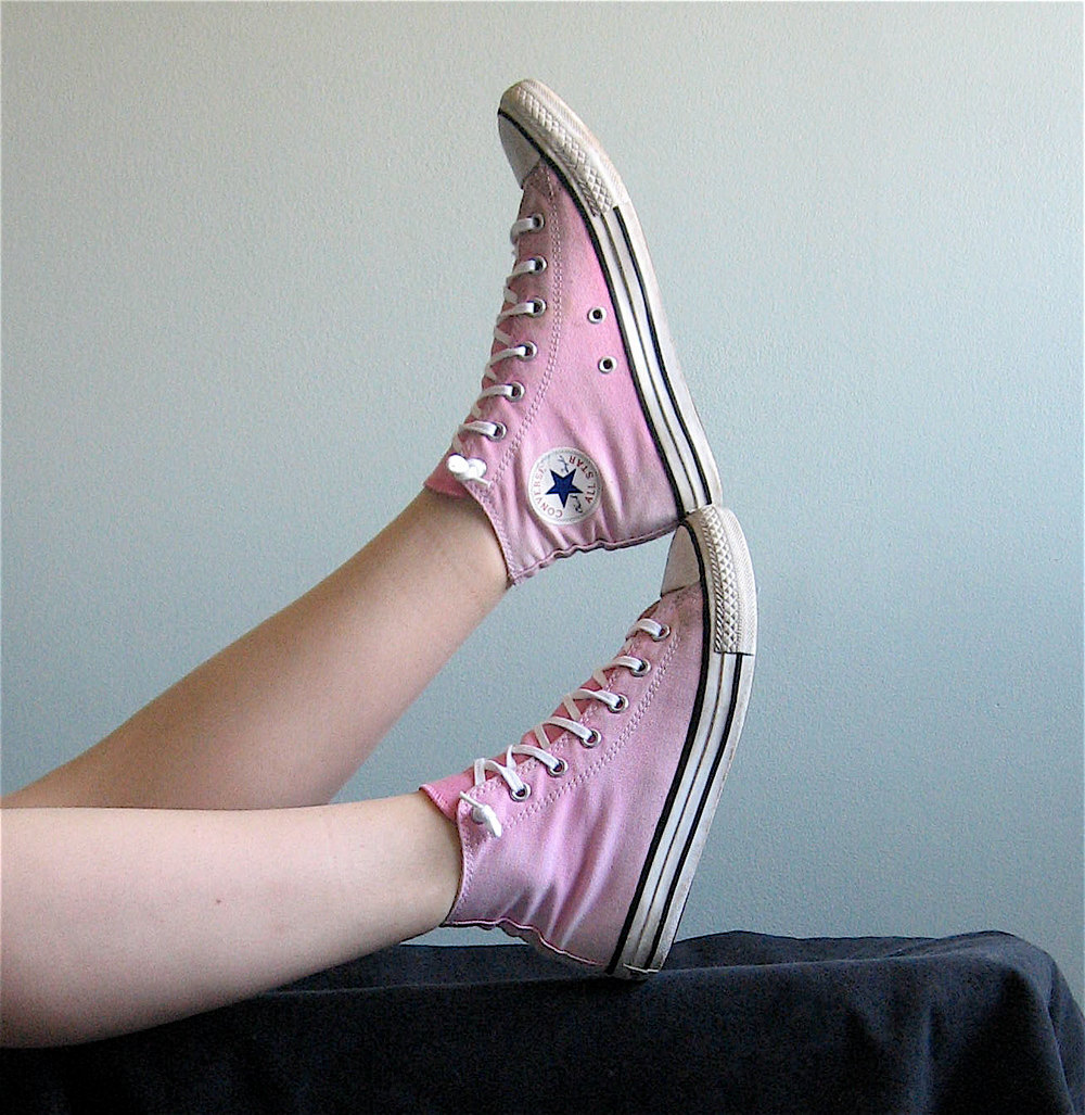 Bubblegum pink high tops