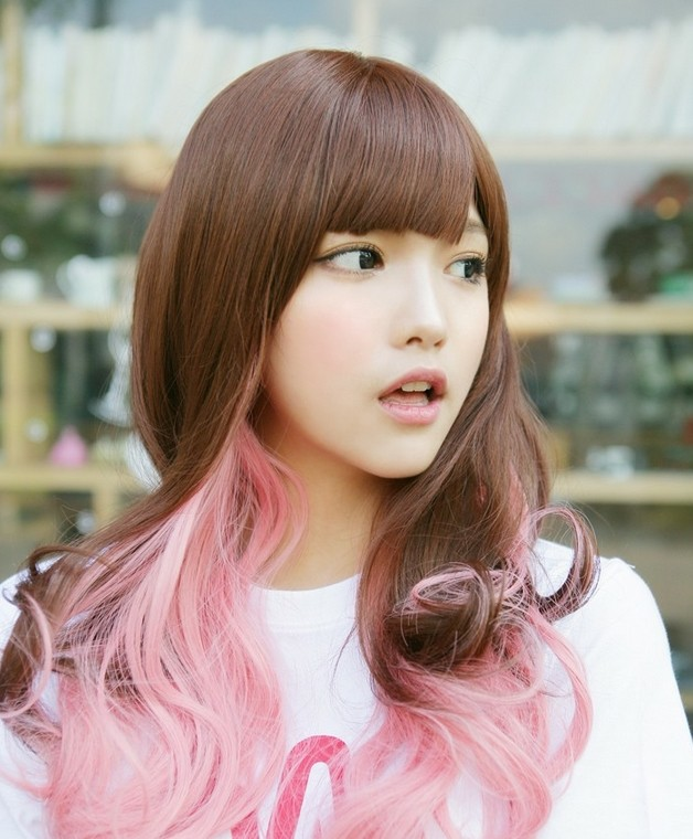 Bubblegum pink highlights
