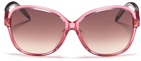 Bubblegum pink oversized sunglasses