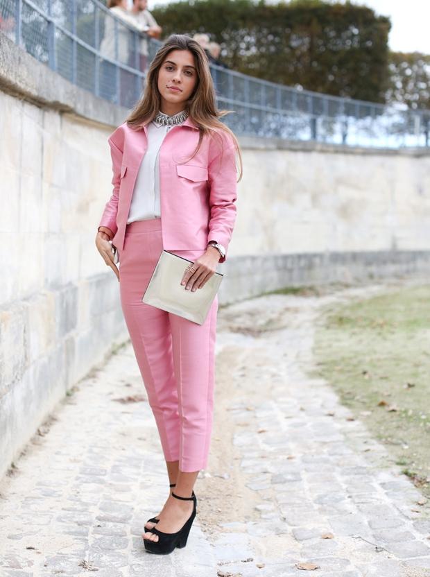 Bubblegum pink suit