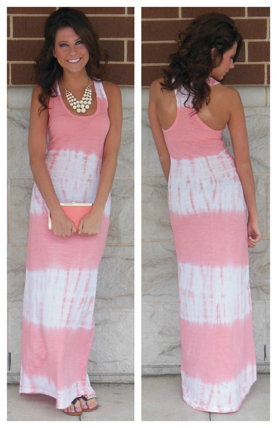Bubblegum pink tie dye dress