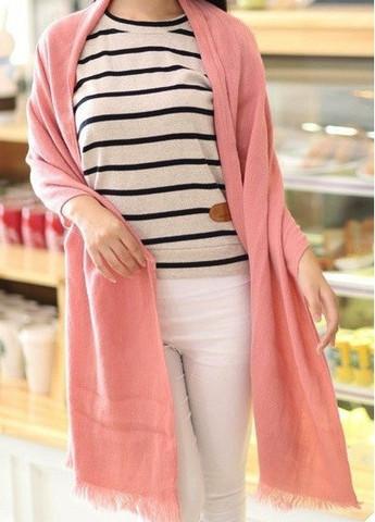 Cashmere rose blanket scarf