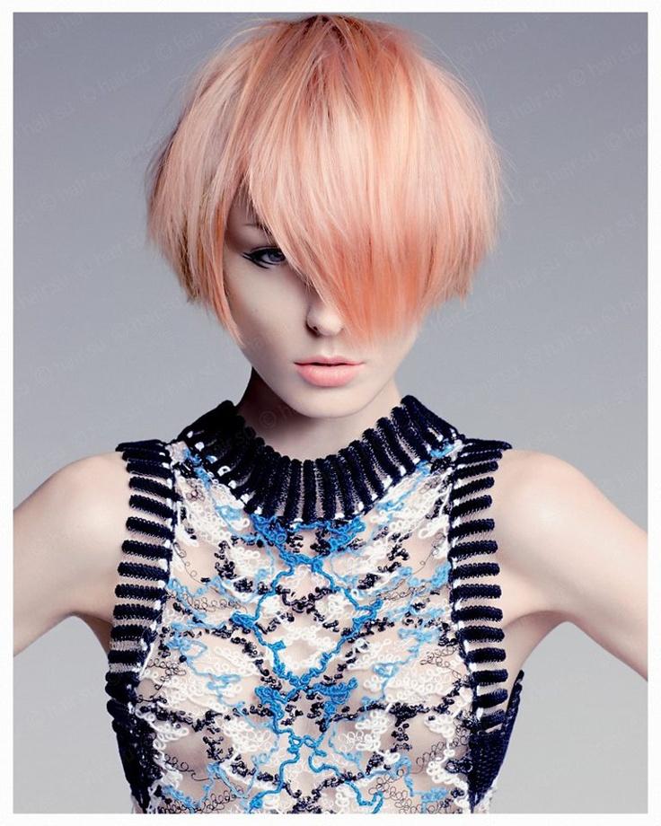Chic Apricot Hair
