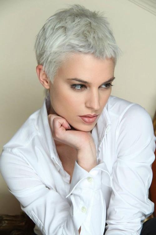 Short womens haircut
