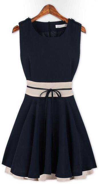 Conservative nautical party dress