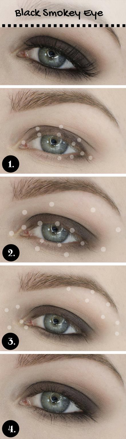 Cool Black Smoky Eyes for Summer