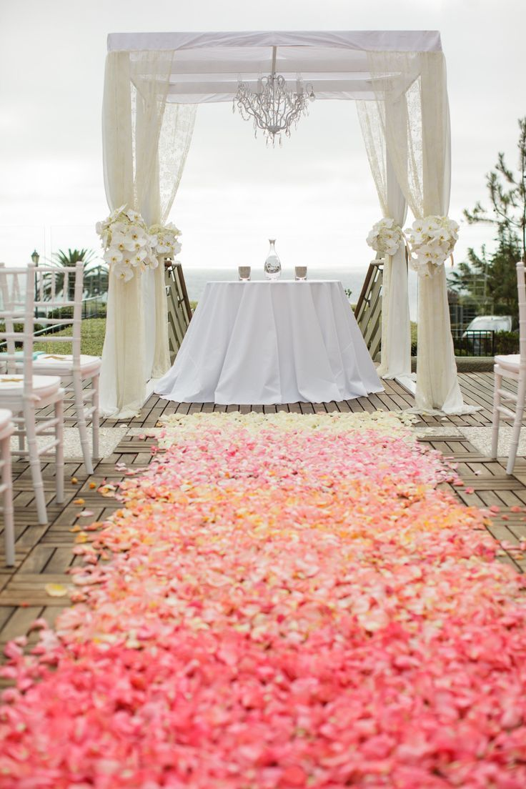 Coral floral walkways