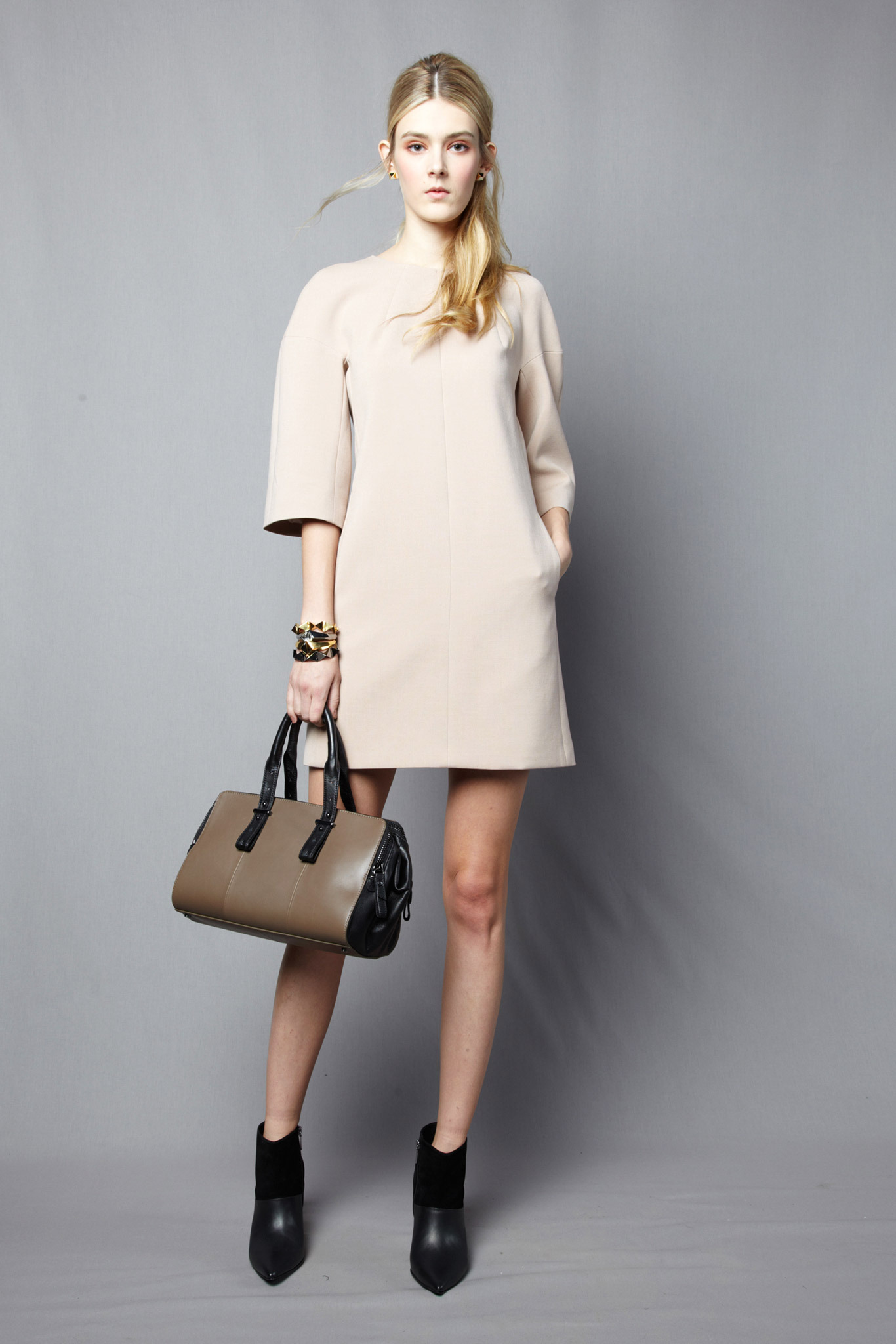 Cream mod dress