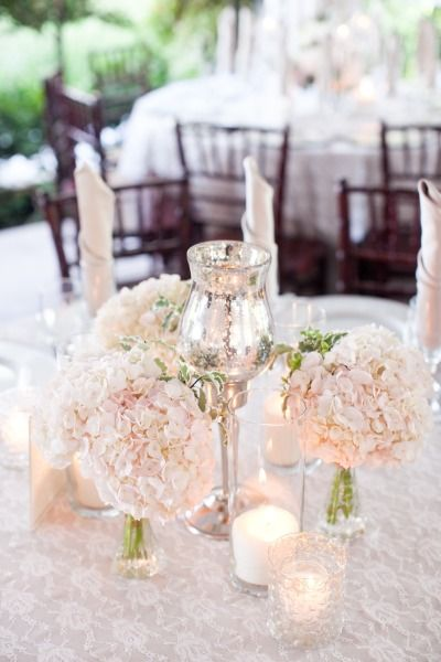 Cream rose table settings