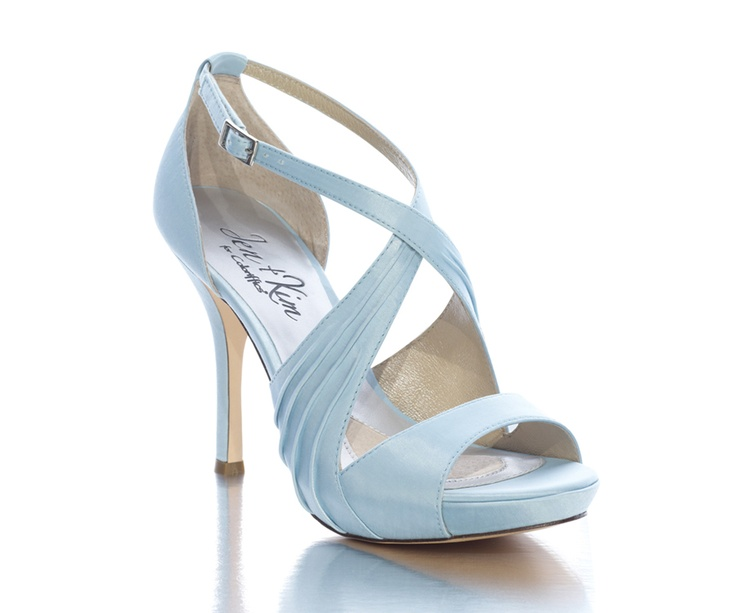 Custom blue bridal shoes