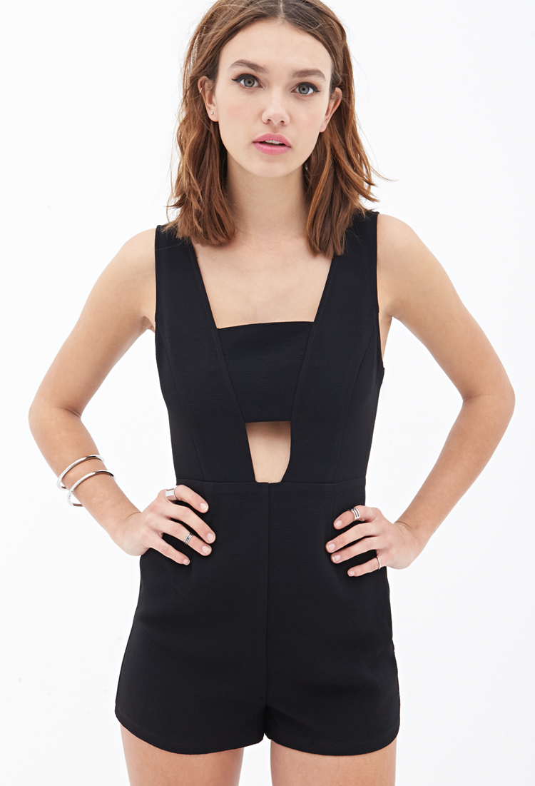 Cut-out romper