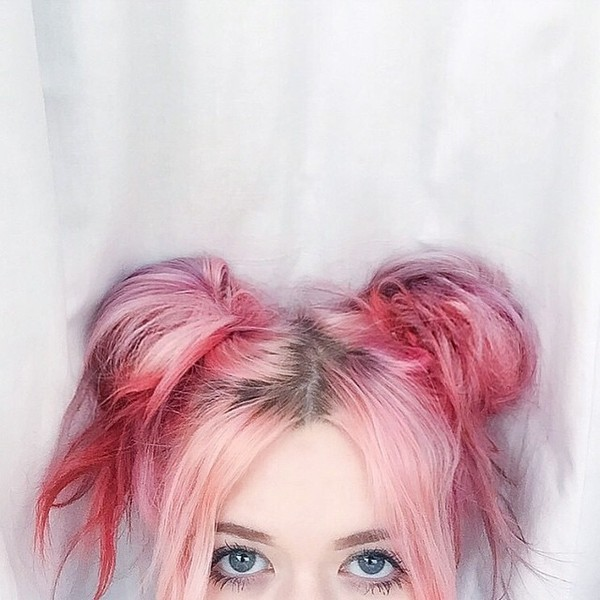 Cute Bubblegum Pink Hair