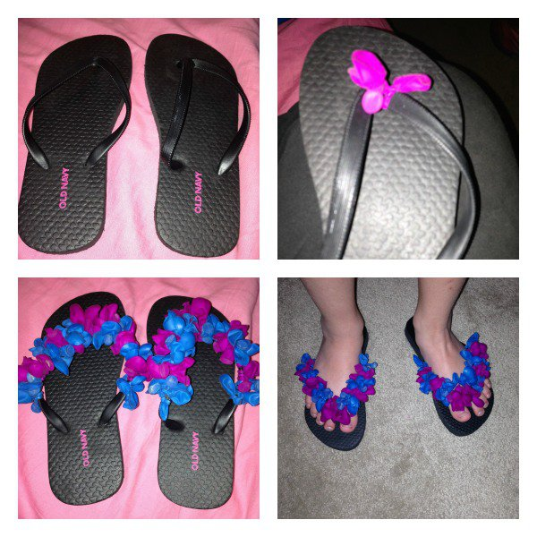 Cute DIY Flip-flops with Balloons