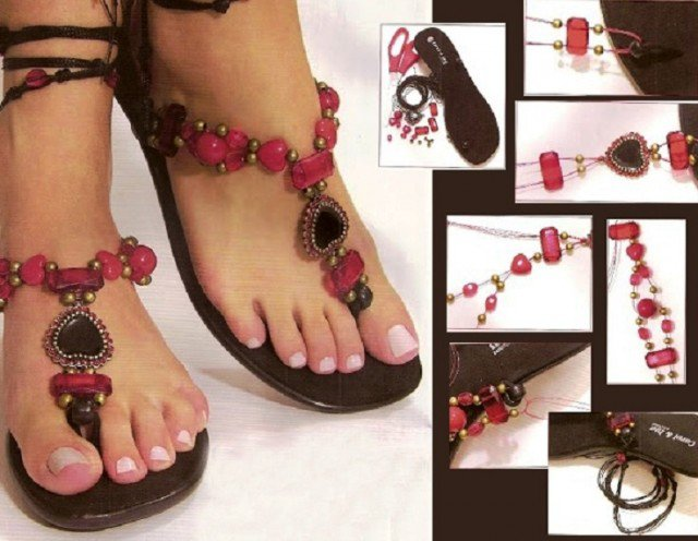 DIY Boho Chic Slippers