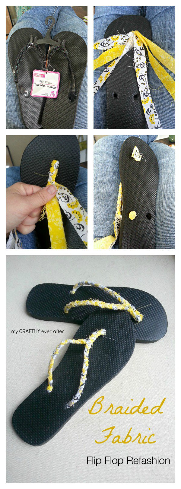 DIY Braided Fabric Slippers