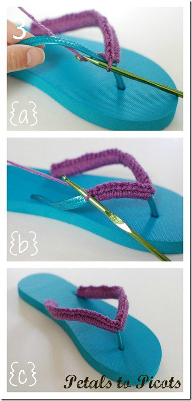 DIY Color Block Crochet Slippers