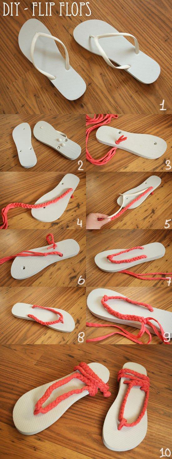 DIY Cute Flip-flops