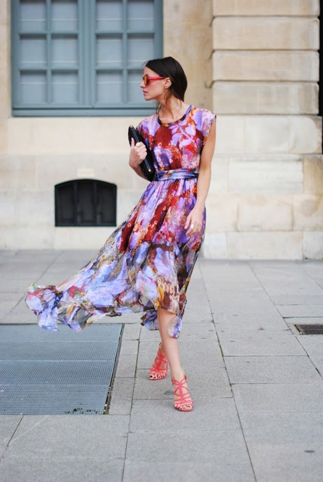 Floral Chiffon Dress for Summer