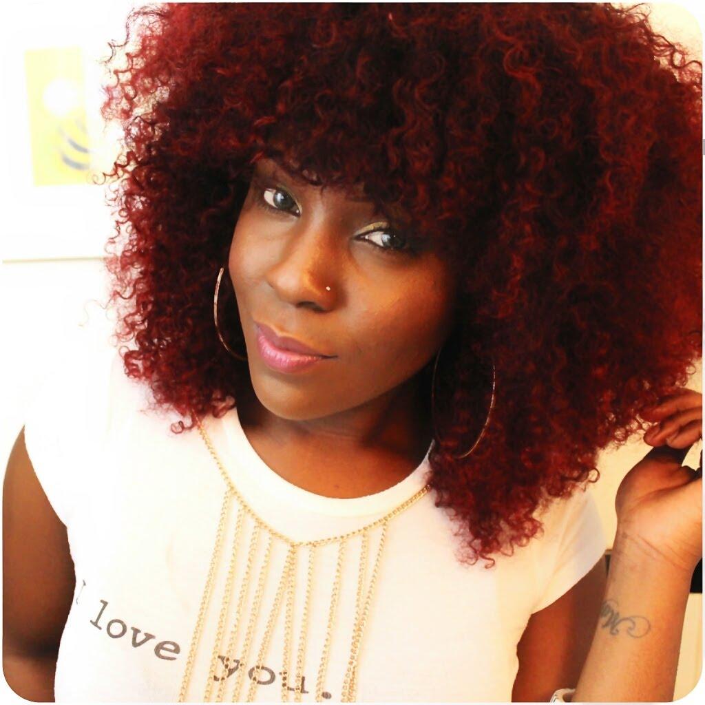 Dark red Afro