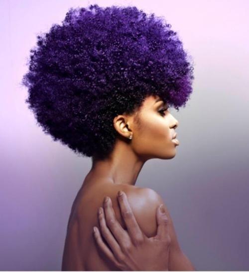 Deep violet Afro