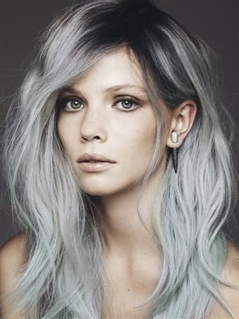 Edgy Grey Hair