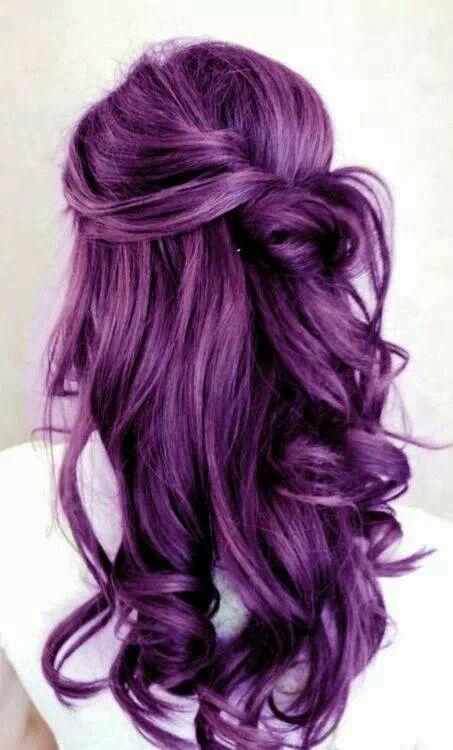 Fashionable Violet Purple Hair