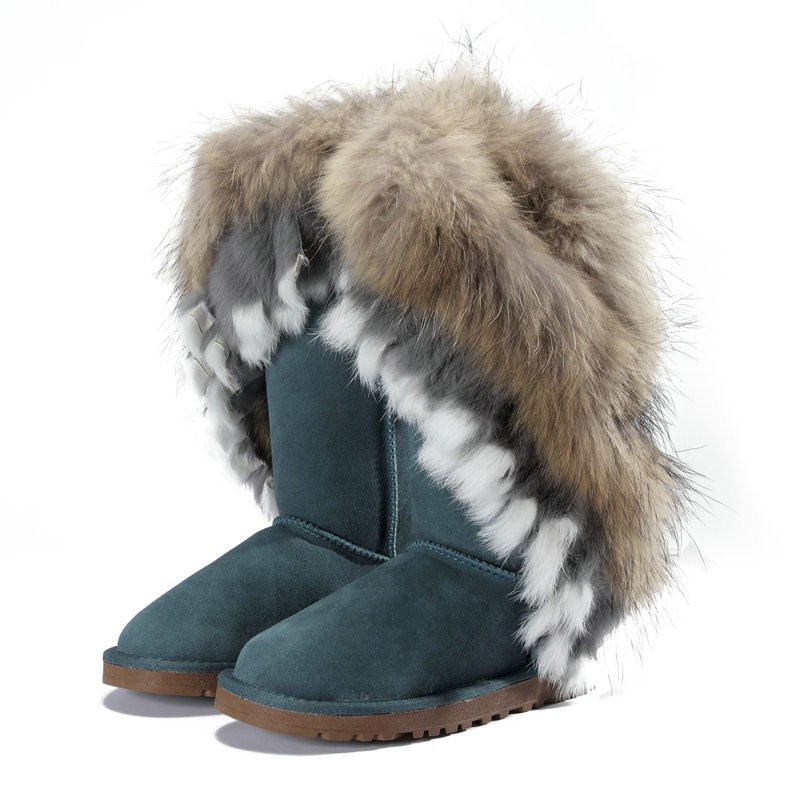 Feather 'Ugg' boots