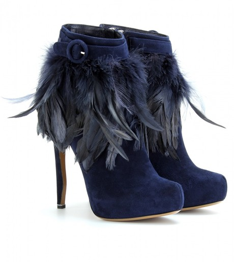 Feather high ankle boots