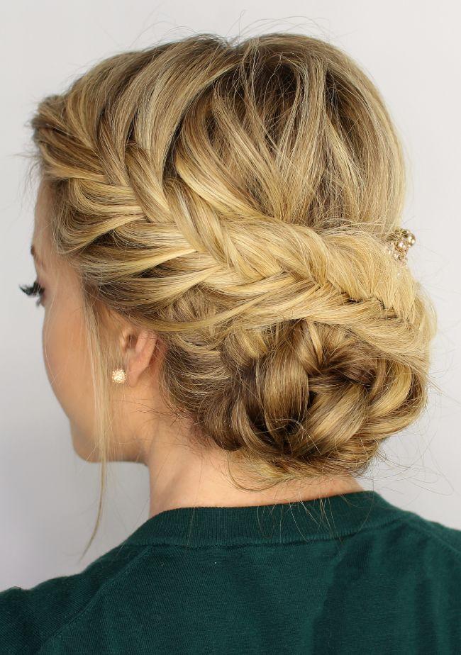 Fishtail updo knot