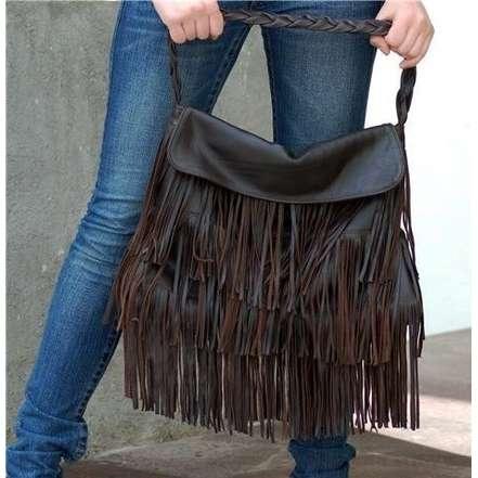 Fringe purse