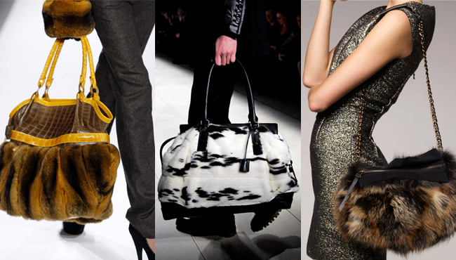 Furry purses