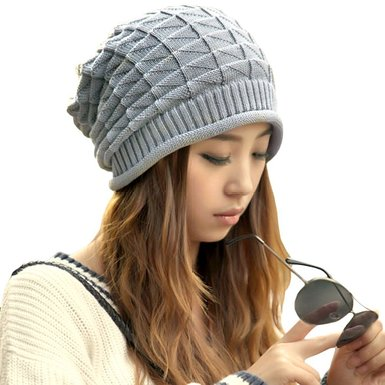 Grey knit hat