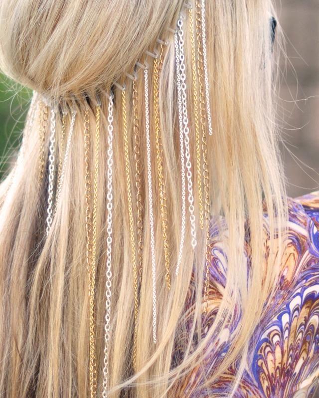 Hair chain headband